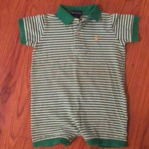 Ralph Lauren baby polo onesie bodysuit romper.